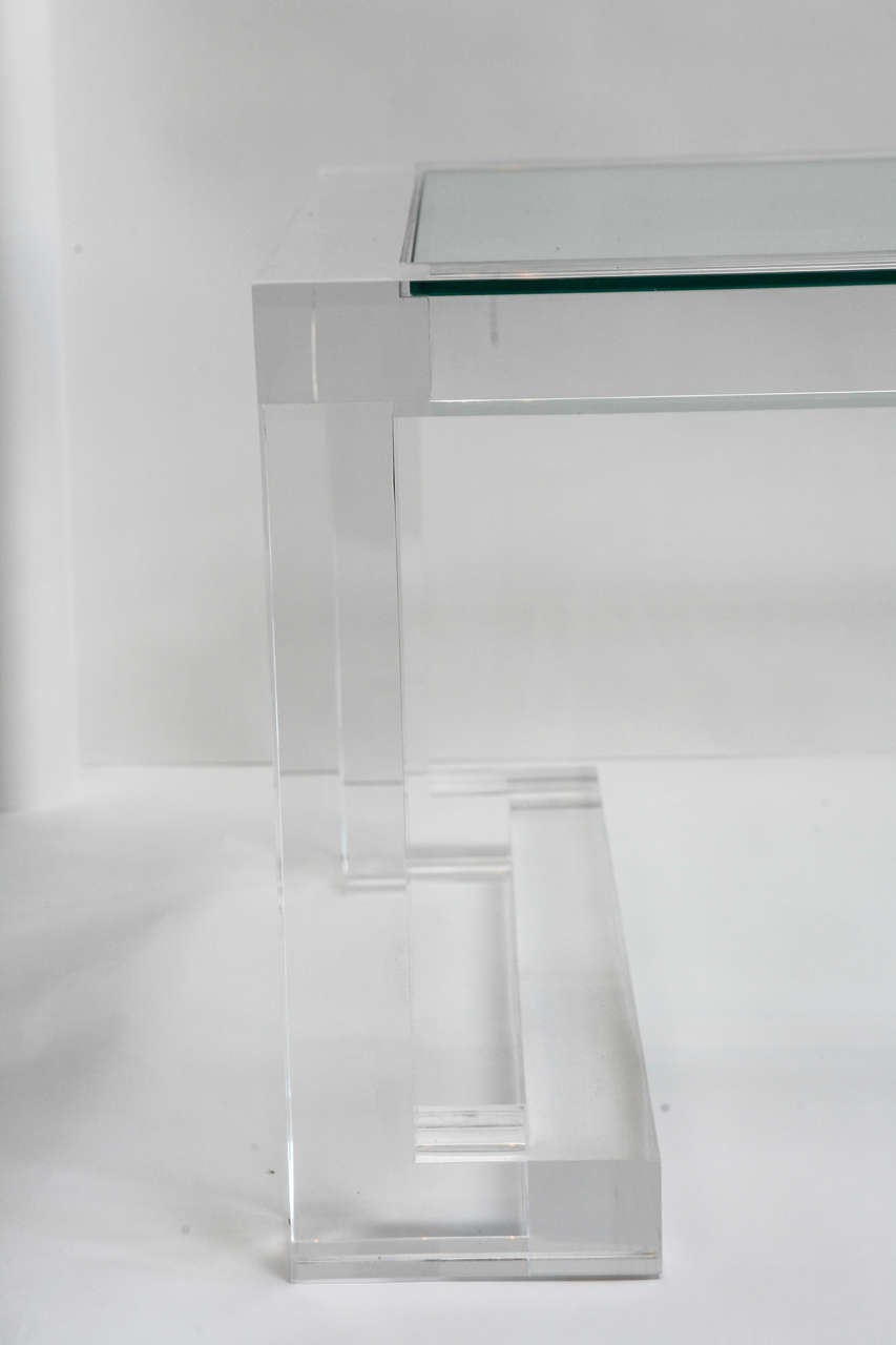 Acrylic Glass Coffee Table Acrylic And Glass Coffee Table For Sale At 1stdibs
