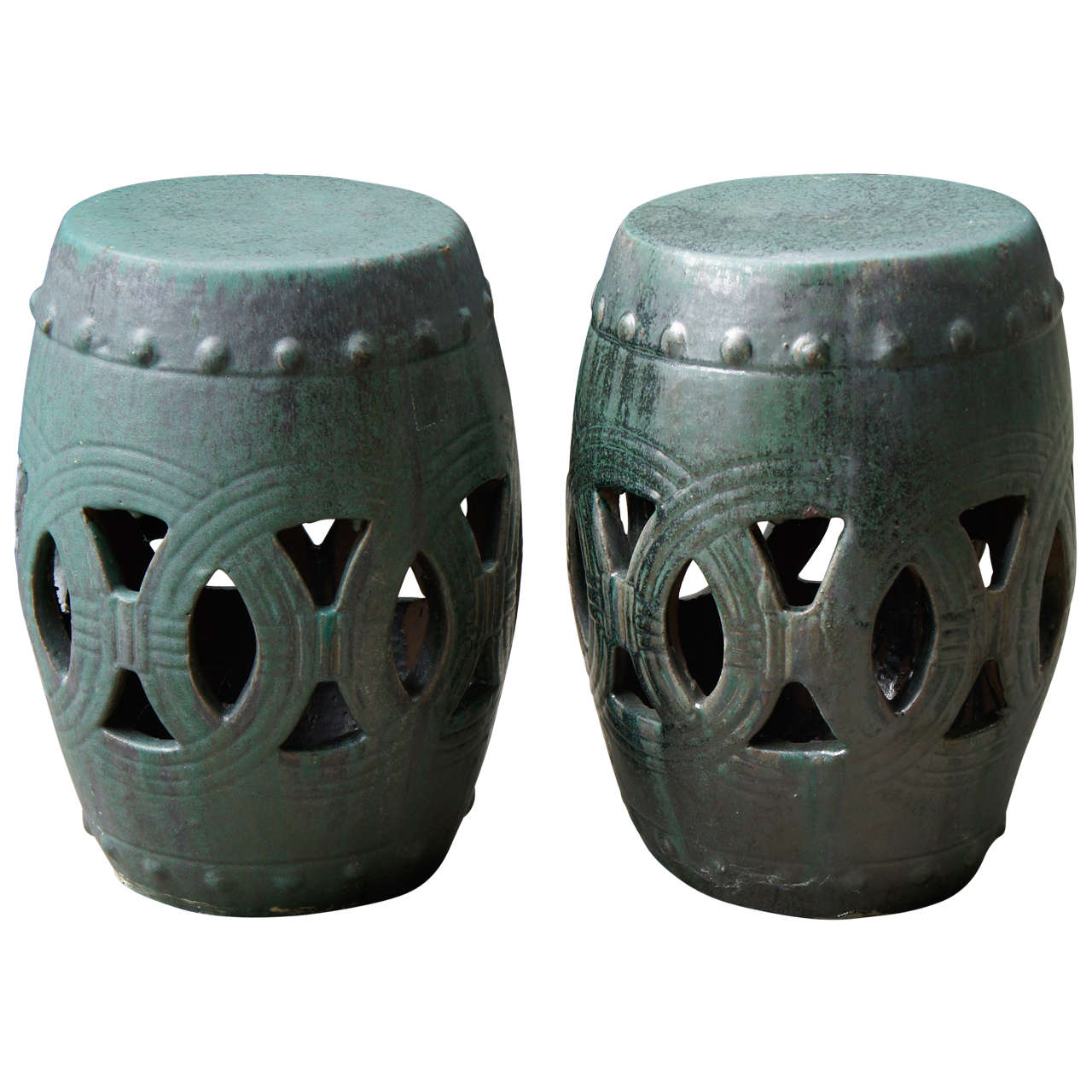 Wondrous A Fine Pair Of Vintage Chinese Glazed Terra Cotta Garden Pabps2019 Chair Design Images Pabps2019Com