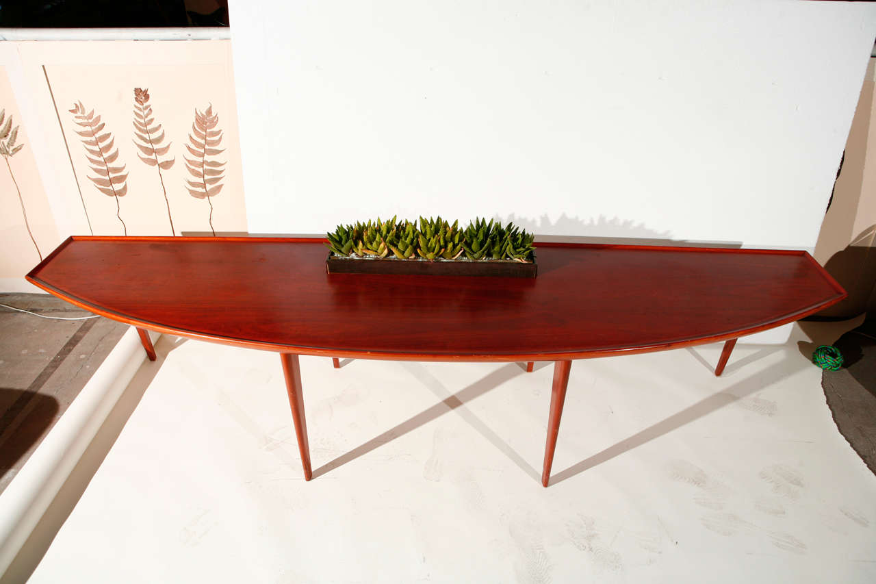 Mid Century Coffee Table with Planter Insert 2