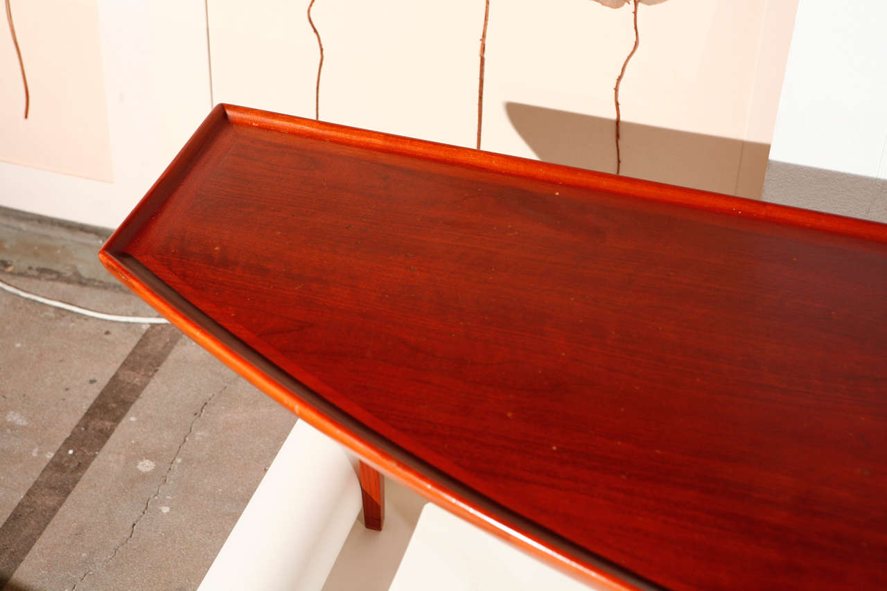Mid Century Coffee Table with Planter Insert 4