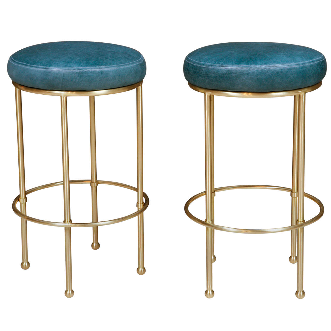 Antique Bar Stools ~ Brass bar stool at stdibs
