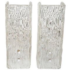 Pair of Glass Sconces by Kalmar