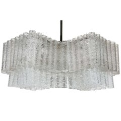 Glass Tube Chandelier by Doria