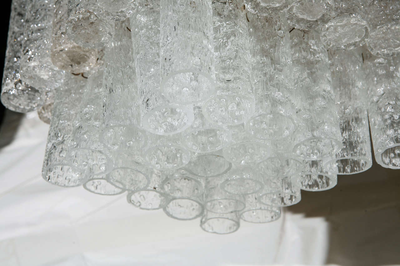 20th Century Glass Tube Chandelier by Doria For Sale