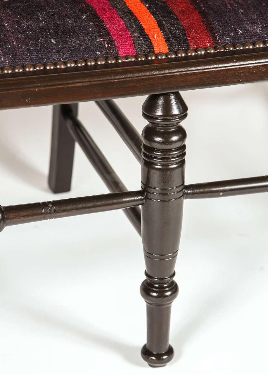 Vintage Spindle Back Bench at 1stdibs
