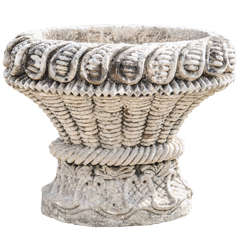 An 18th century carved limestone basket