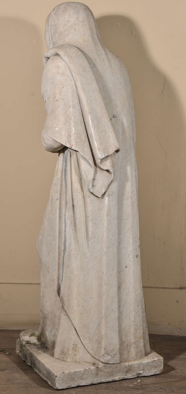 19th Century Carrara Marble Statue from Italy For Sale 1