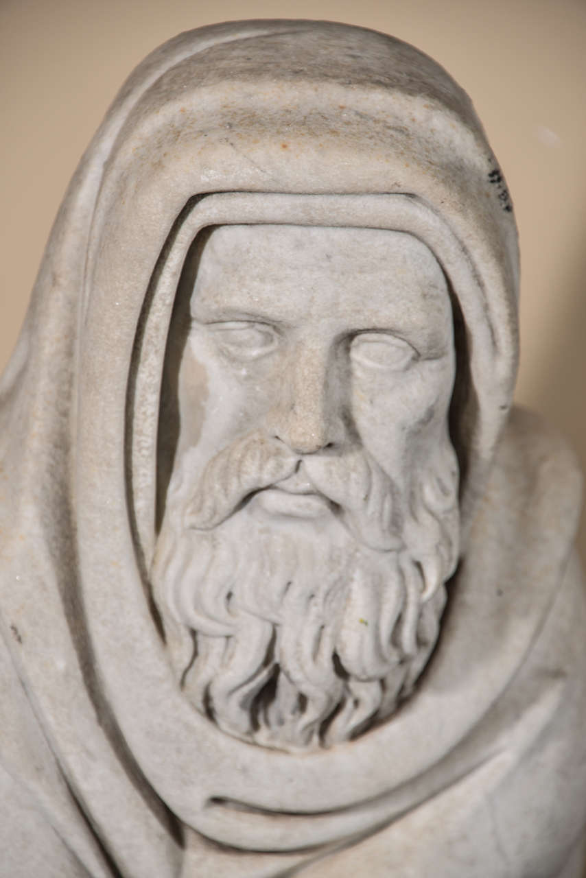 19th Century Carrara Marble Statue from Italy For Sale 4