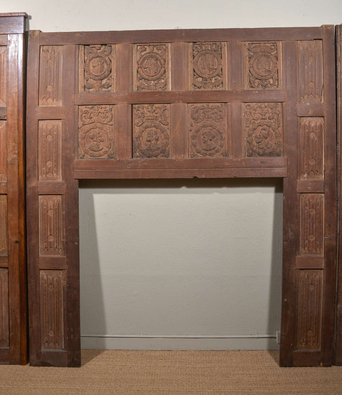 Set of Eleven 16th Century Carved Linenfold Wood Panels 2