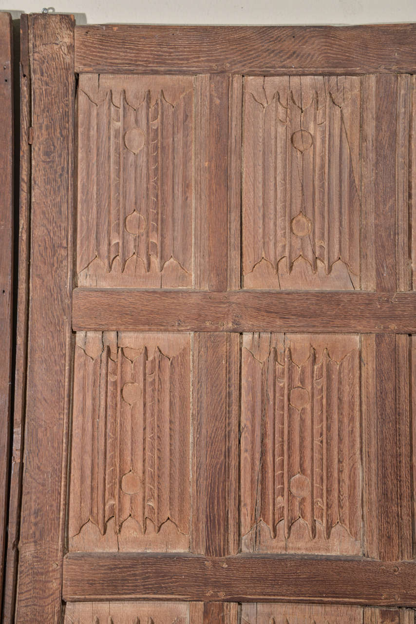 Set of Eleven 16th Century Carved Linenfold Wood Panels 3