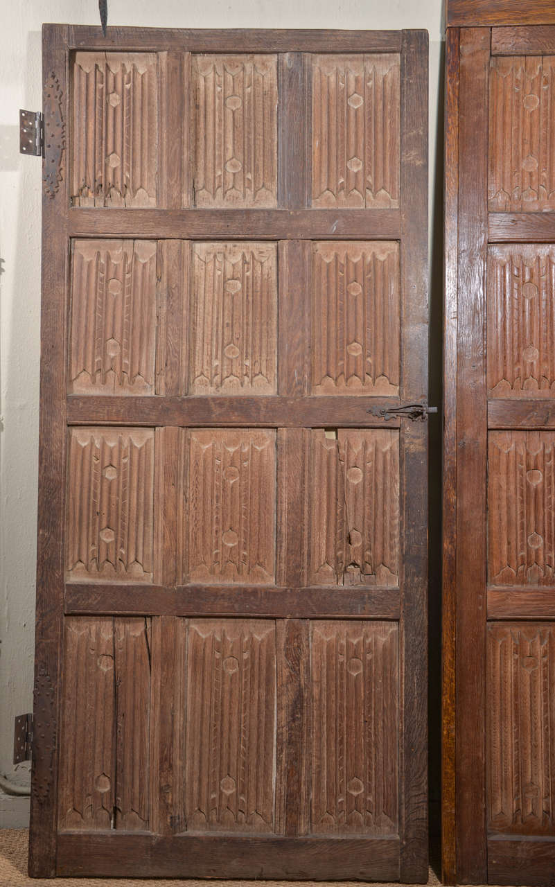 Set of Eleven 16th Century Carved Linenfold Wood Panels 8