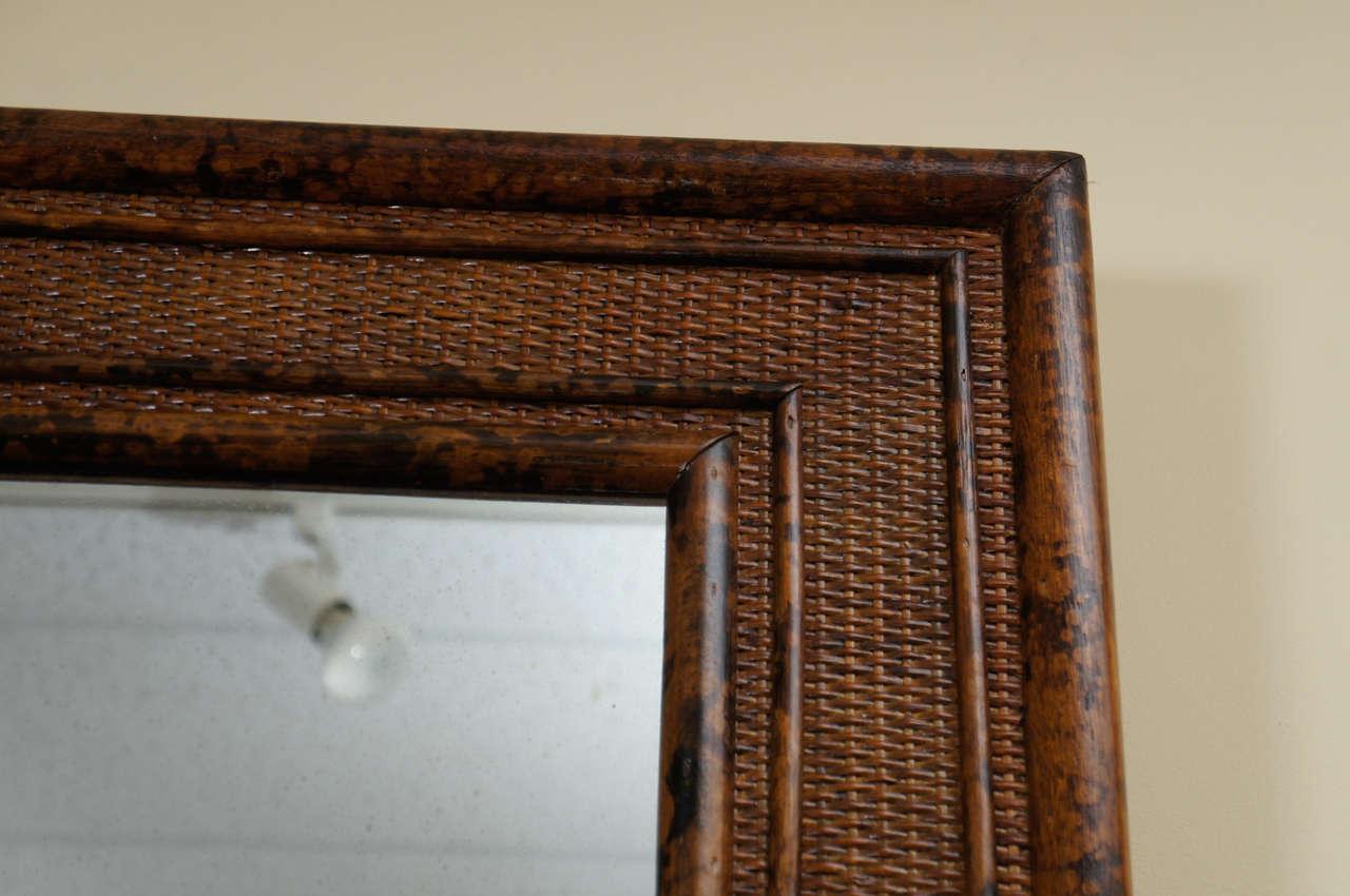 English Bamboo And Rattan Wall Mirror At 1stdibs