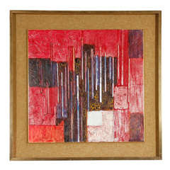 Abstract Mixed Media on Canvas by Hugo de Soto