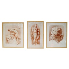 Set of  Three Classical Drawings