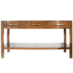 Custom Three Drawer Console by William Haines