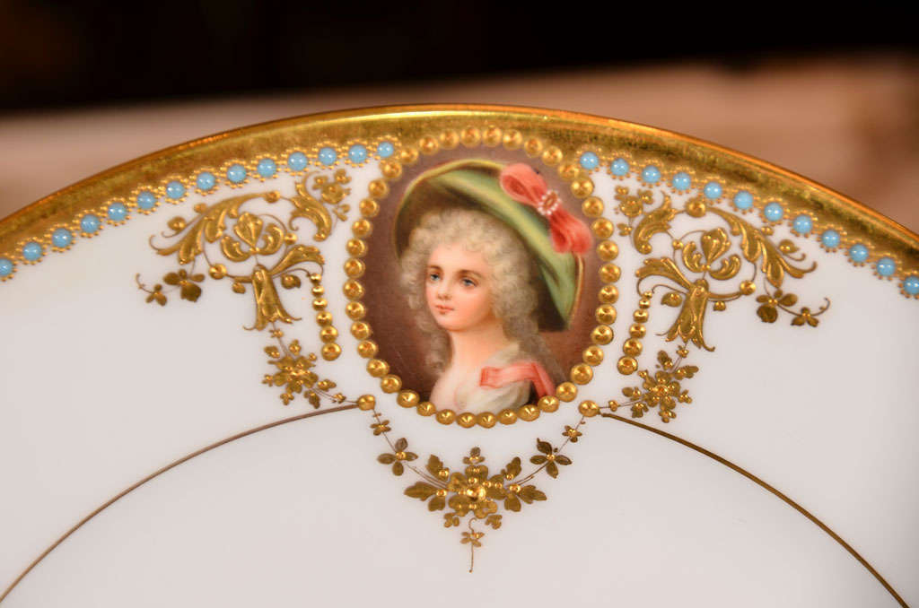 Porcelain 19th c set of Austrian Royal Vienna plates For Sale