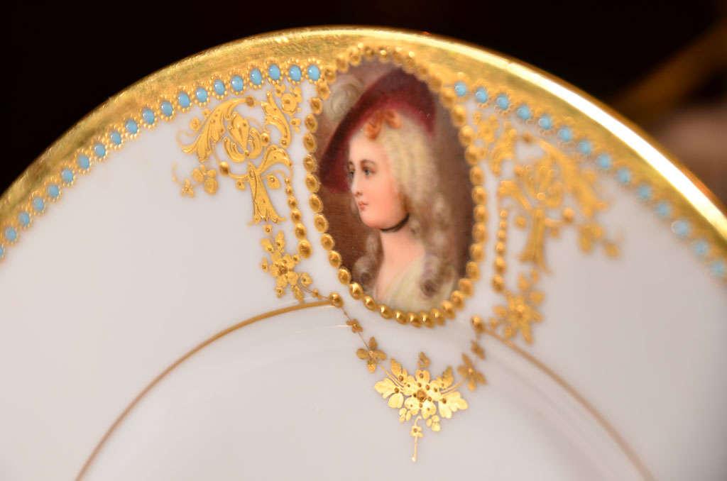 19th c set of Austrian Royal Vienna plates For Sale 1