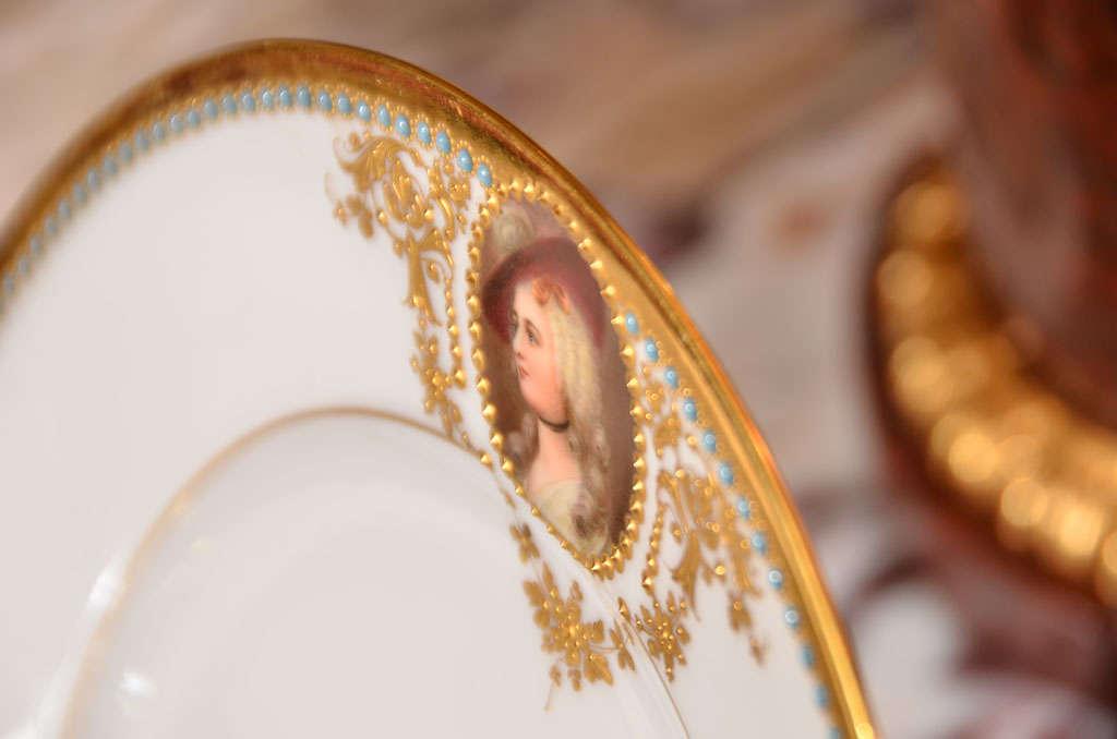 19th c set of Austrian Royal Vienna plates For Sale 2