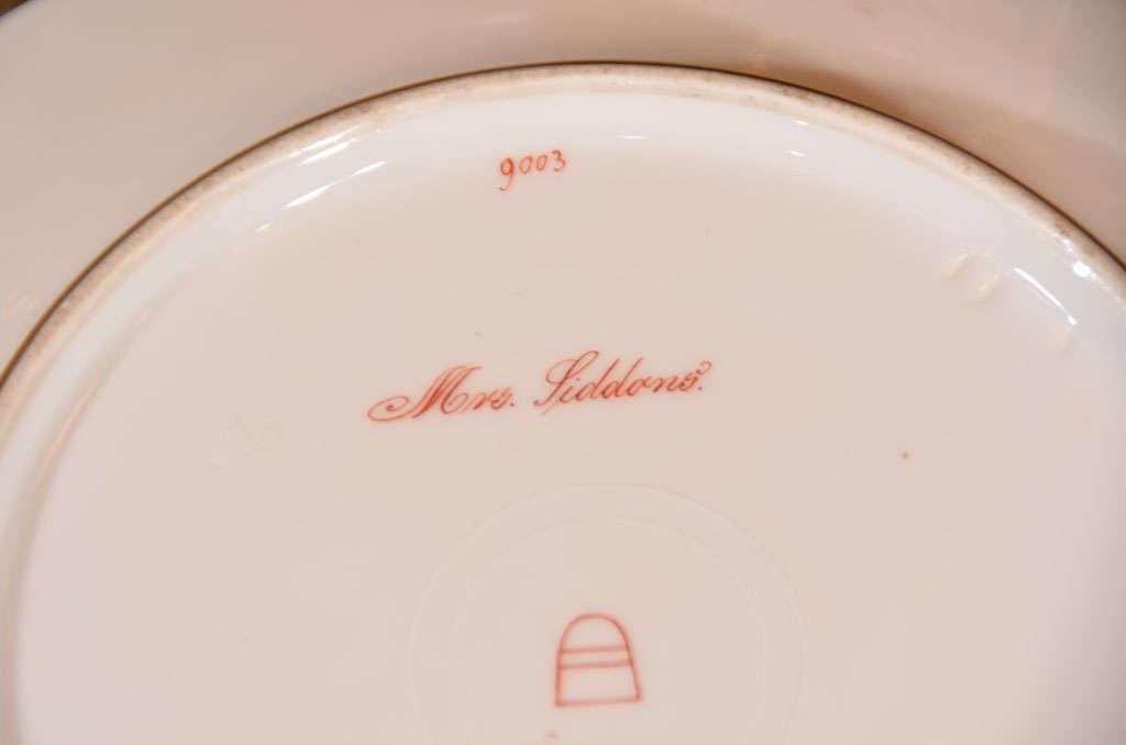 19th c set of Austrian Royal Vienna plates For Sale 3