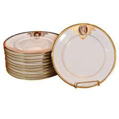 19th c set of Austrian Royal Vienna plates