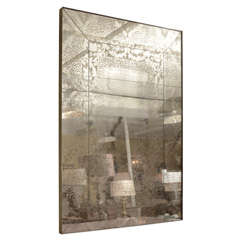 Intaglio Design Silvered Mirror