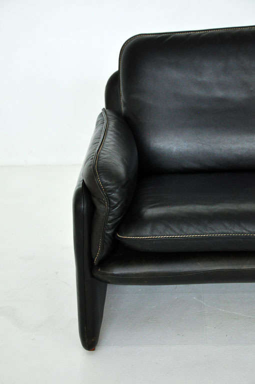 De Sede black leather sofa 3