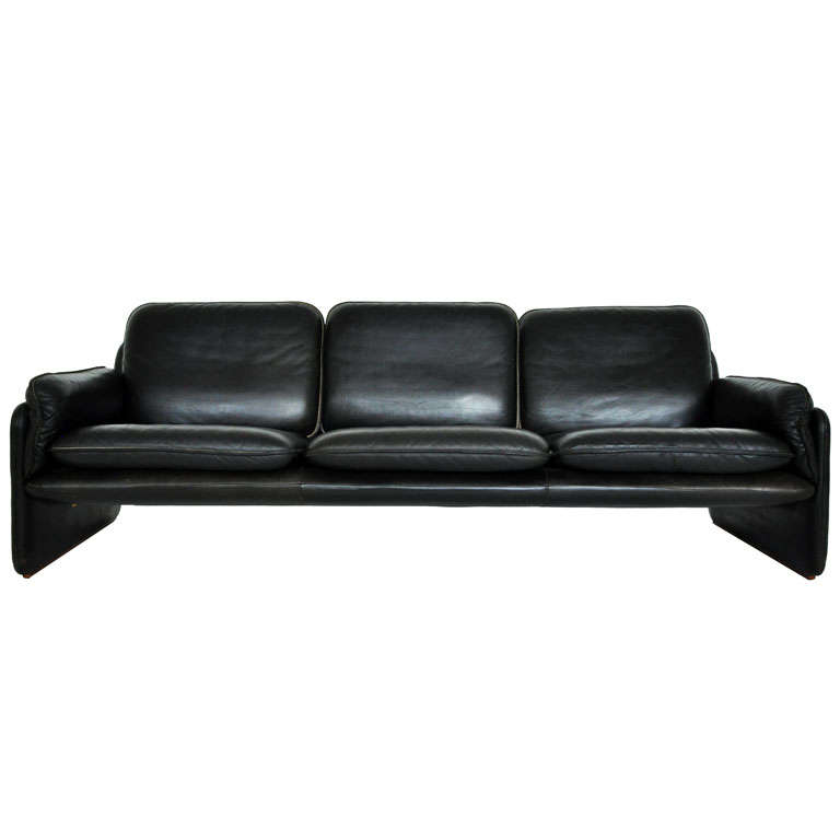 De Sede black leather sofa