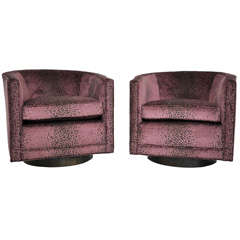 Dunbar Swivel Lounge Chairs - Edward Wormley
