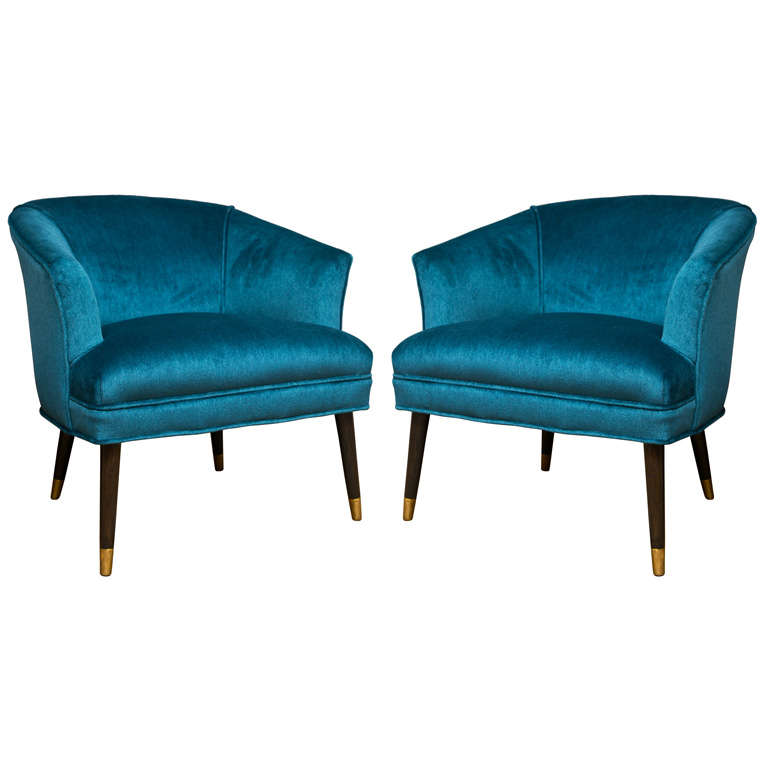 Classic Mid Century Tub Chairs At 1stdibs