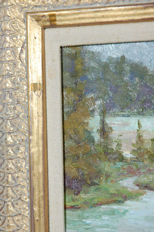20th Century Tim Lawson Oil Painting on Board, Signed, Dated Landscape For Sale