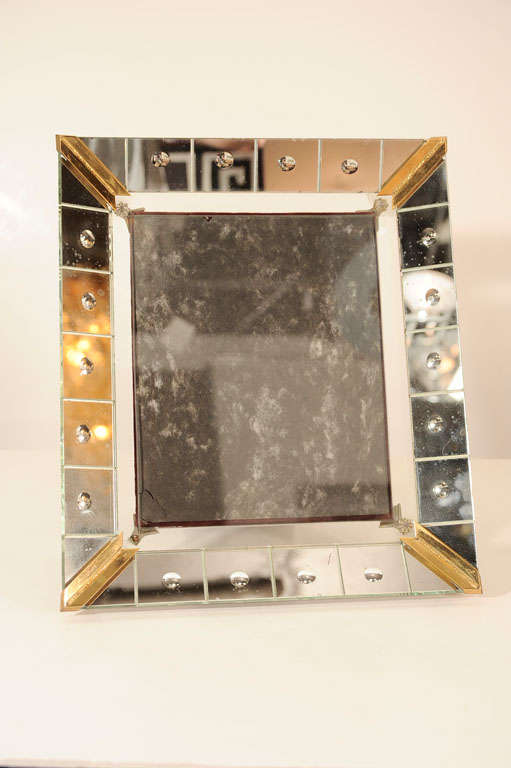 1940's Hollywood Picture Frame with Antique Mirrored ...