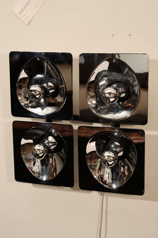 Mid-Century Modern Modernist Four-Way Chrome Sconce & Wall Sculpture by Sciolari For Sale