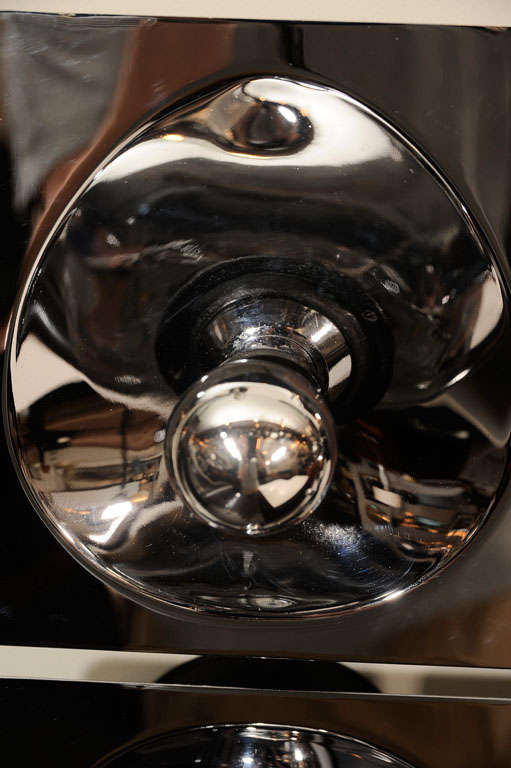 Late 20th Century Modernist Four-Way Chrome Sconce & Wall Sculpture by Sciolari For Sale