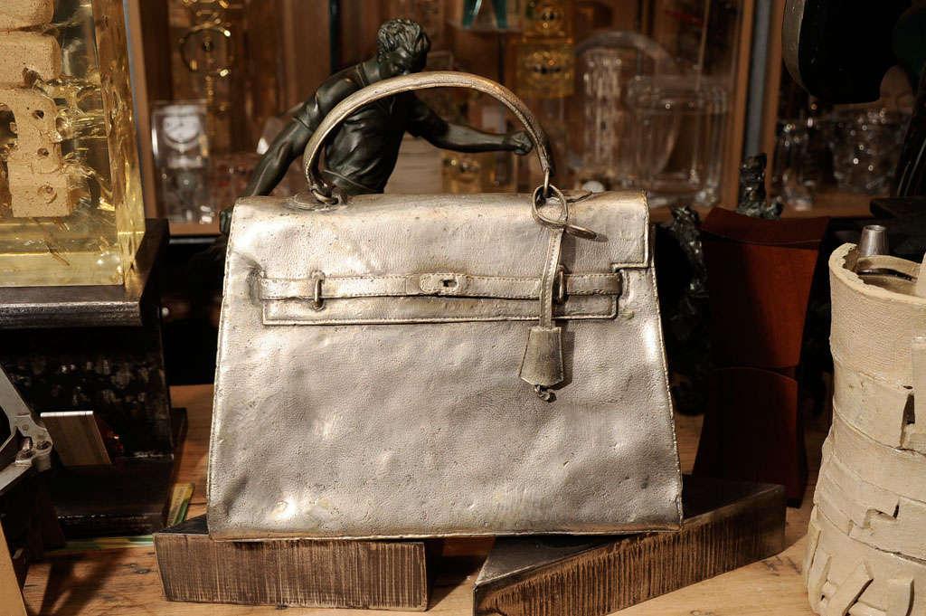 Silvered Bronze Hermes Kelly Bag 2