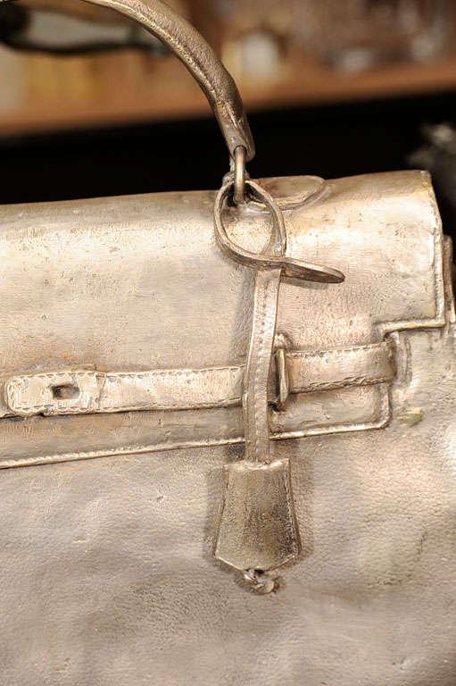 Silvered Bronze Hermes Kelly Bag 3