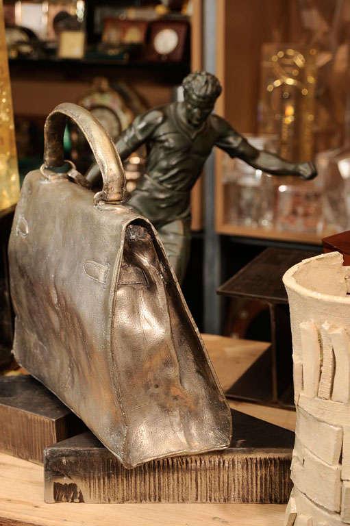 Silvered Bronze Hermes Kelly Bag 5