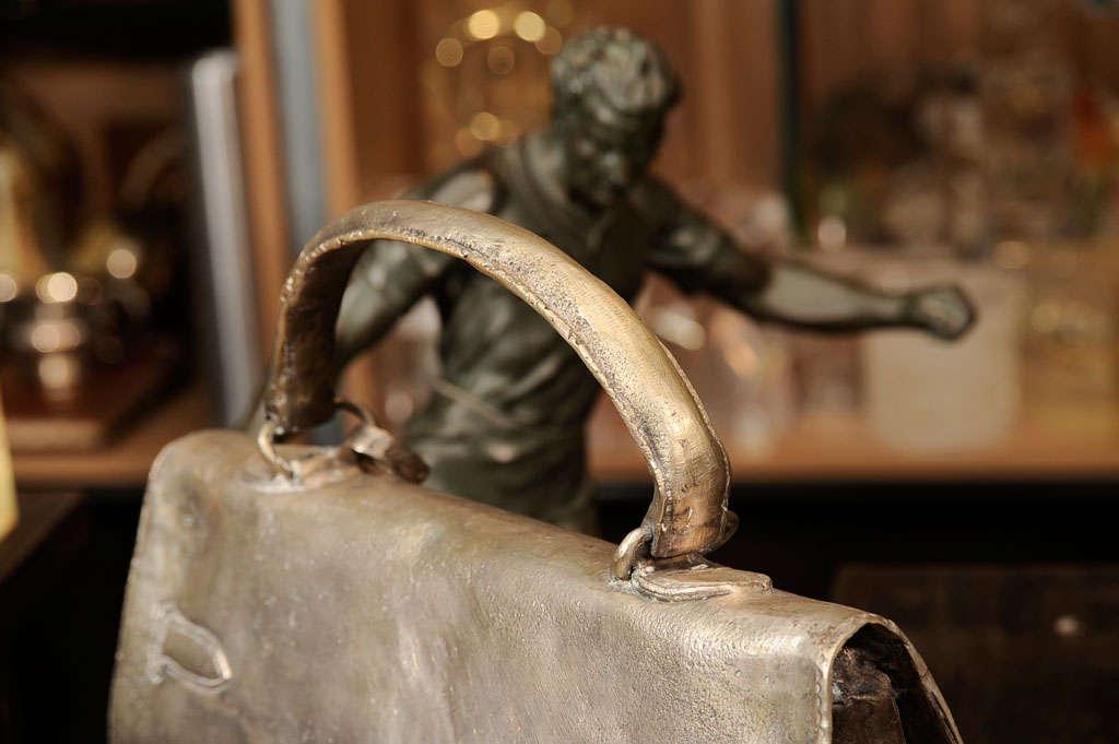 Silvered Bronze Hermes Kelly Bag 6