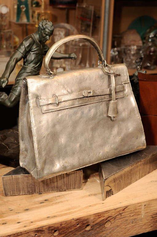 Silvered Bronze Hermes Kelly Bag 7