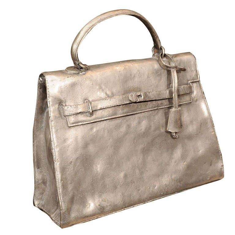 Silvered Bronze Hermes Kelly Bag 1