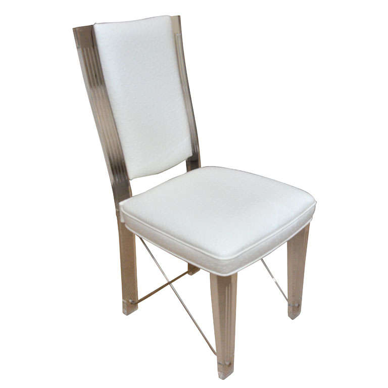 Lucite Desk Chair by Grosfeld House at 1stdibs