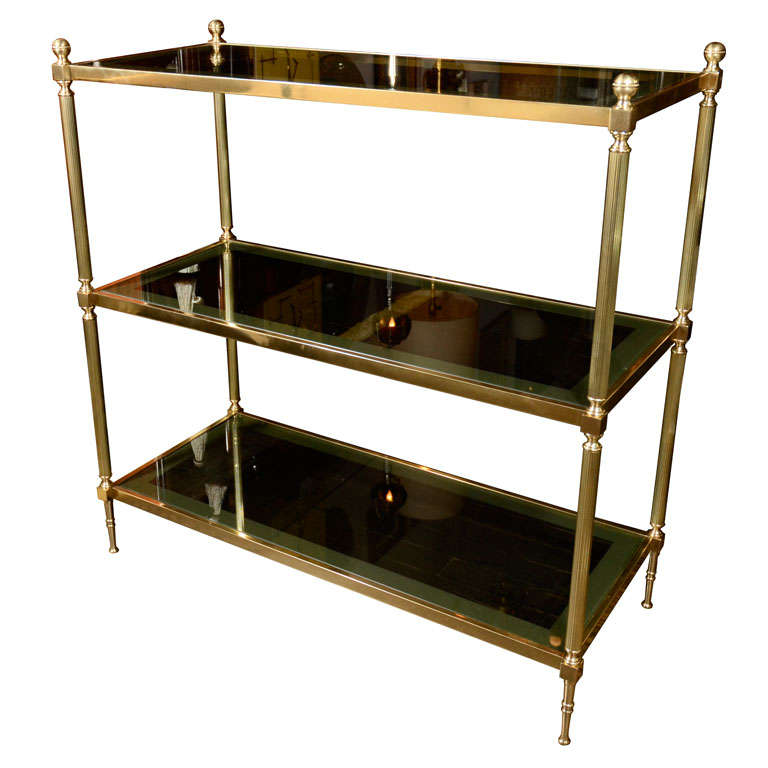 Three tiered etagere attributed to maison jansen at 1stdibs - Etagere faite maison ...