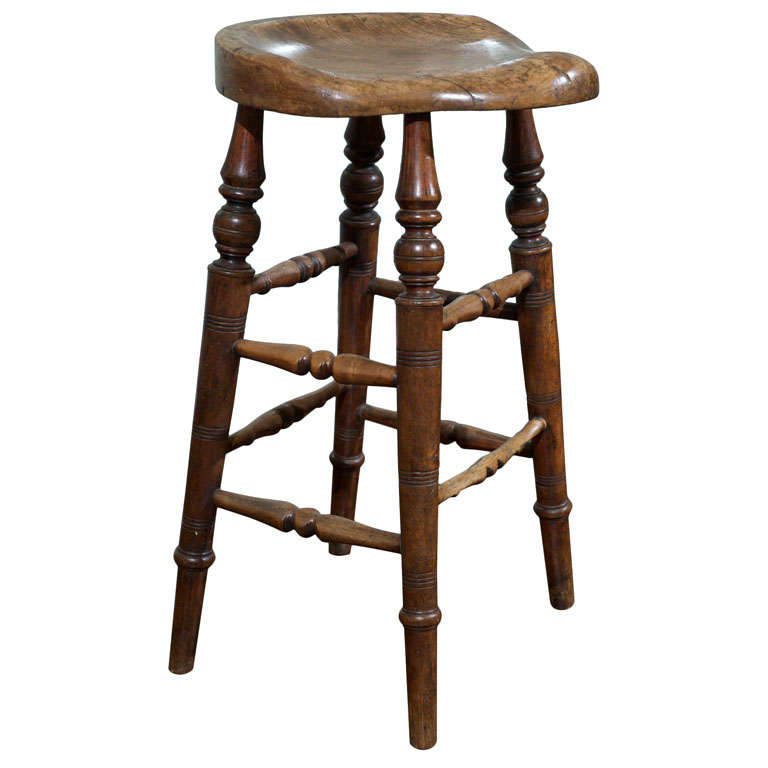 English Elm Wood Saddle Seat Stool at 1stdibs : x from www.1stdibs.com size 768 x 768 jpeg 39kB