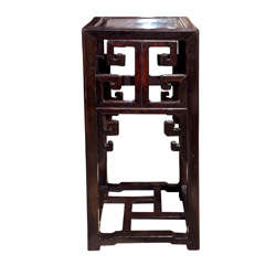 Antique Chinese Hardwood  Pedestal Stand