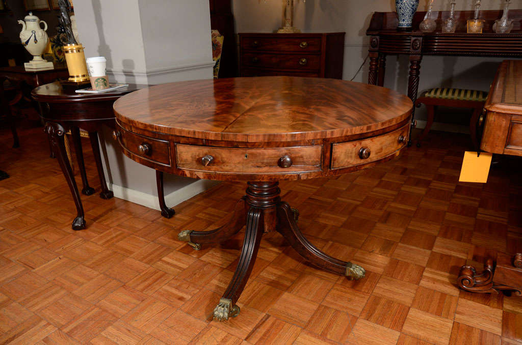19th century round mahogany table on splayed feet with for 10 foot round table