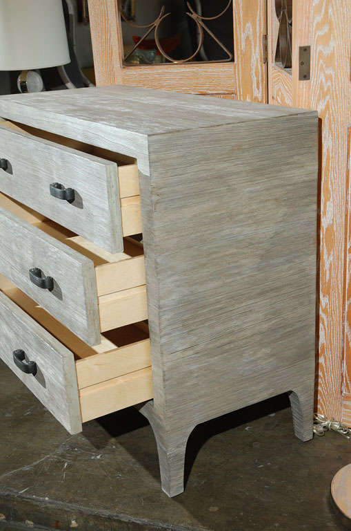 Contemporary Paul Marra Distressed Fir Chest For Sale