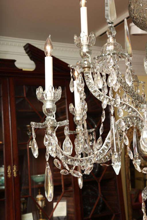 Georgian cut glass chandelier c.1770 3