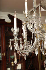 Georgian cut glass chandelier c.1770 image 3