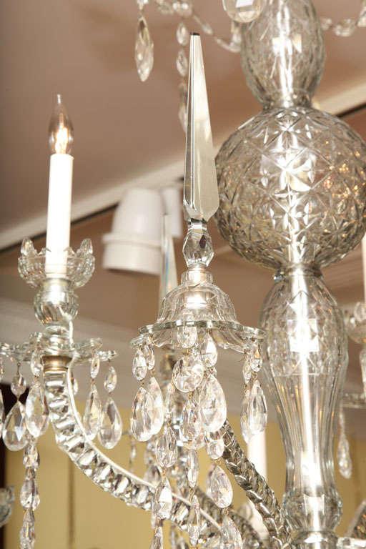 Georgian cut glass chandelier c.1770 4