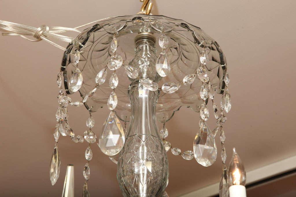 Georgian cut glass chandelier c.1770 5