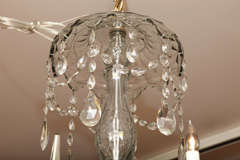 Georgian cut glass chandelier c.1770 image 5